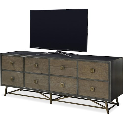 Universal Playlist Entertainment Console with Metal Base