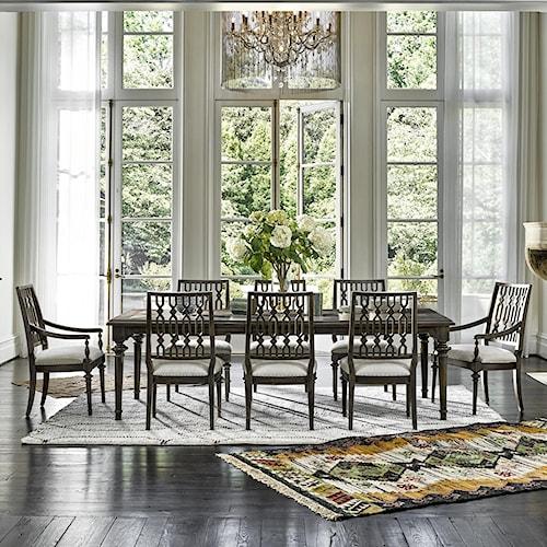 Universal Postscript 9 Piece Dining Set With Rectangular Table