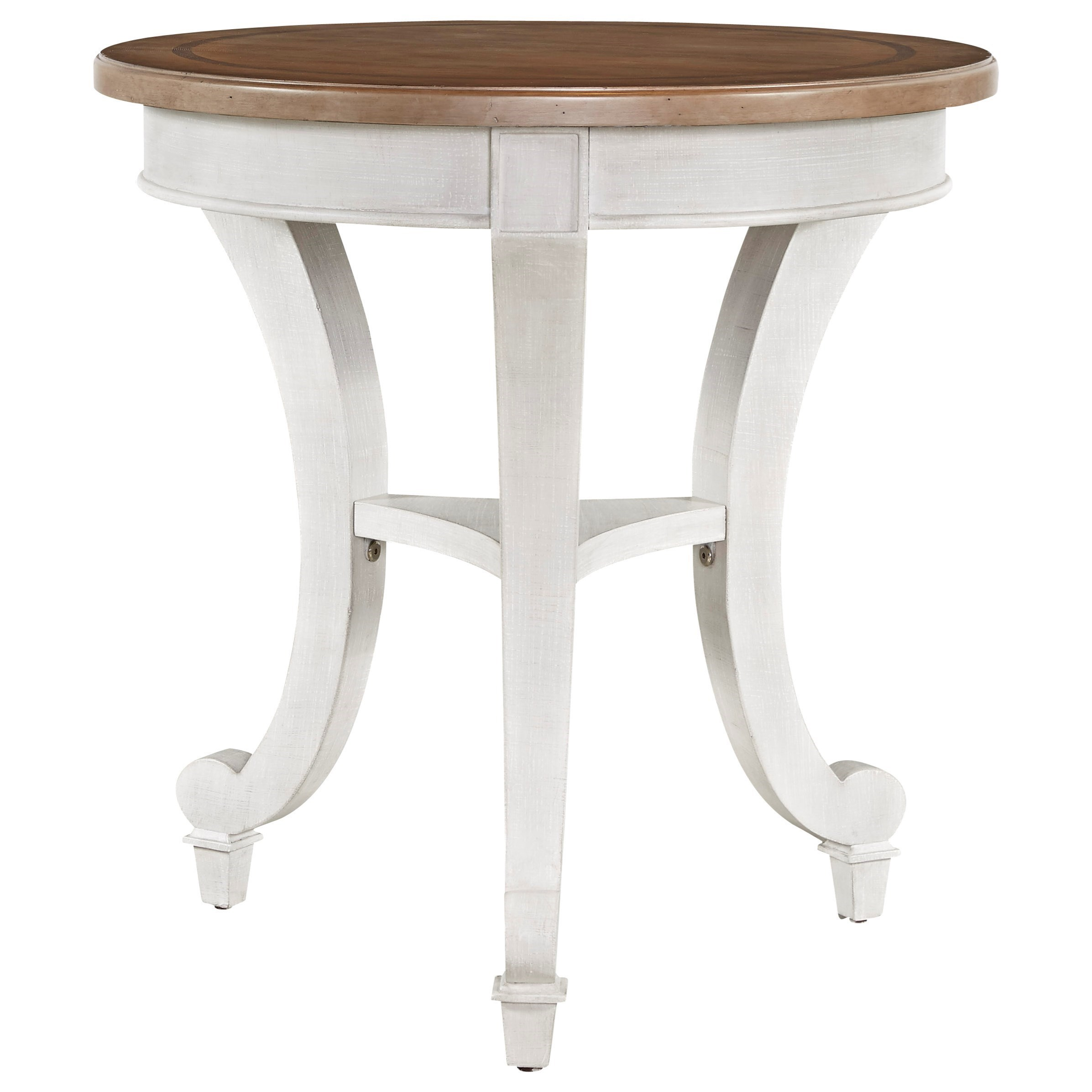 Postscript 764B815 Round Two Tone End Table By Universal