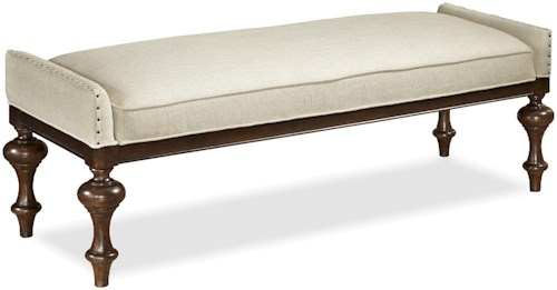 Universal Proximity Upholstered Bed End Bench with Upholstery Tacks