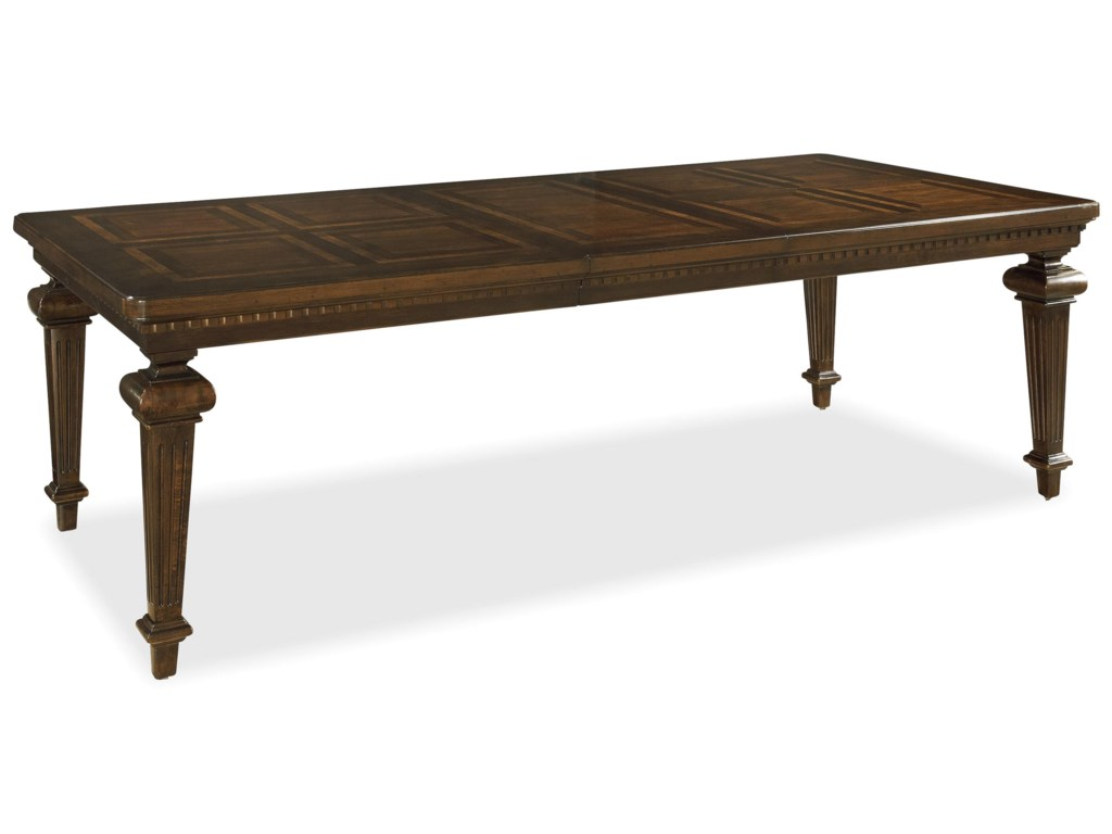 Set Includes Rectangular Table with One 20 Inch Leaf