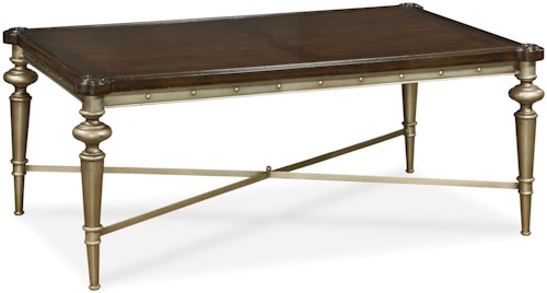 Great Rooms Proximity Metal Cocktail Table with X Stretcher