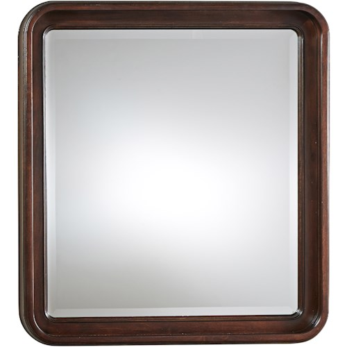 Universal Reprise Dresser Mirror with Rounded Edge
