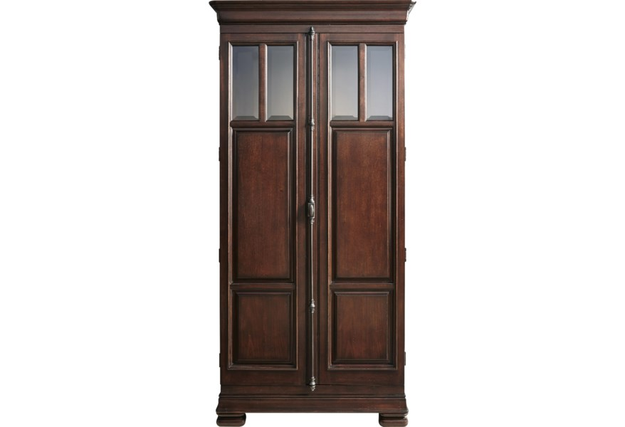 Universal Newton Falls 2 Door Cabinet With Adjustable Shelves And Touch Lighting Morris Home Armoires