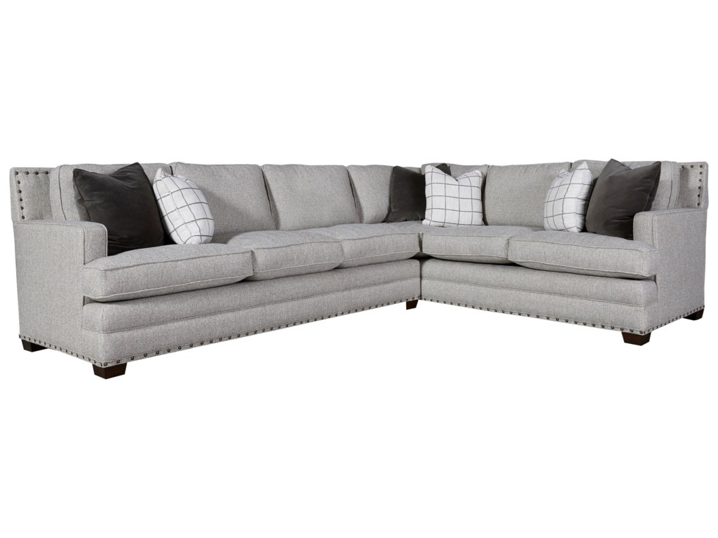 Riley Transitional Sectional with 3 Cushion Sofa by Universal at Zak\'s Home