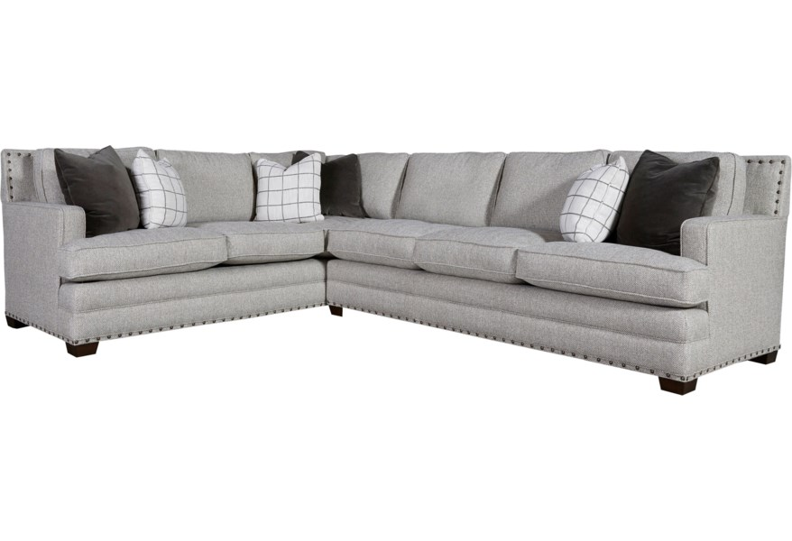 Riley Transitional Sectional with 3 Cushion Sofa by Universal at DuBois  Furniture
