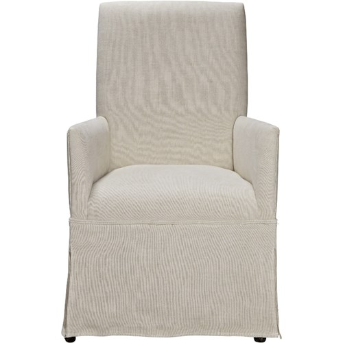 Universal Sojourn Respite Upholstered Arm Chair with Skirted Base