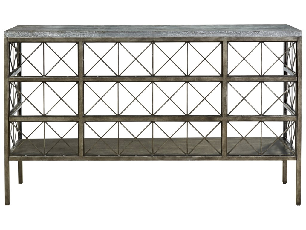 Universal sojourn console table with bluestone top