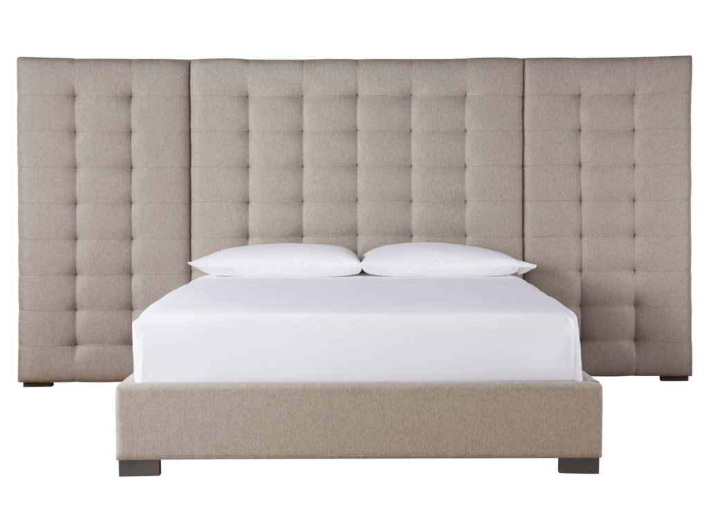 Universal SoliloquyCamille Queen Bed with Wall Panels