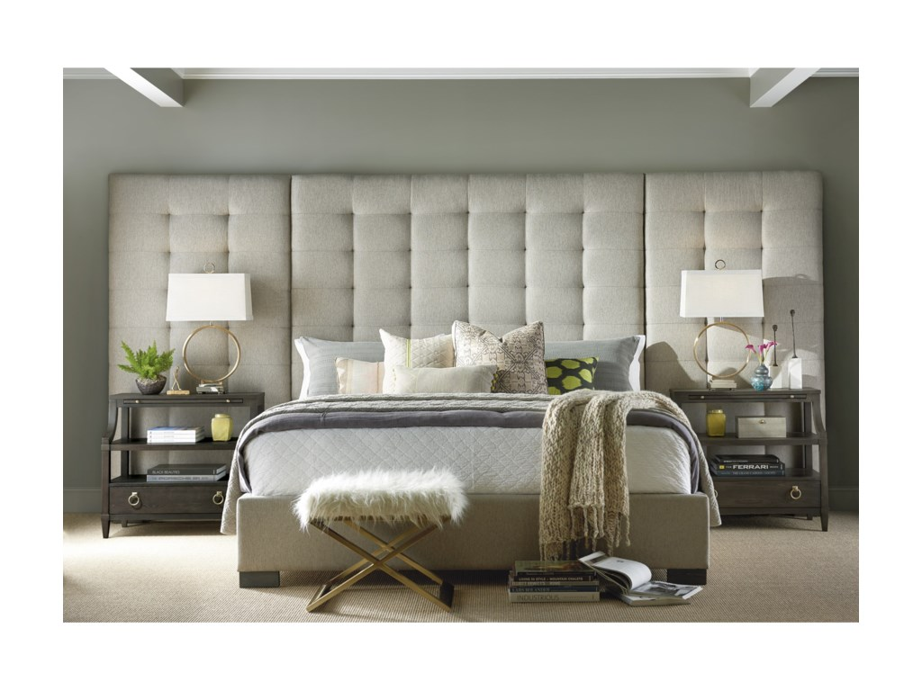 Universal SoliloquyCamille King Bed with Wall Panels