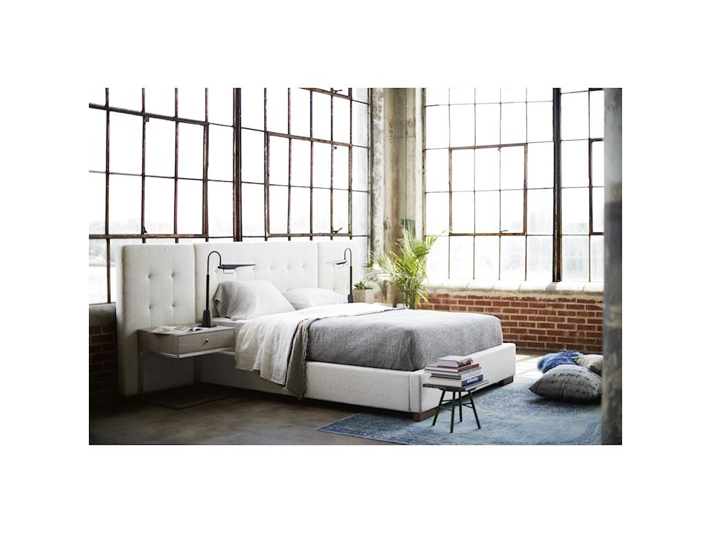 Universal Spaces WalnutBrantley Queen Wall Bed