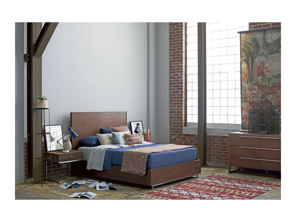 Universal Spaces WalnutTanner Twin Bed