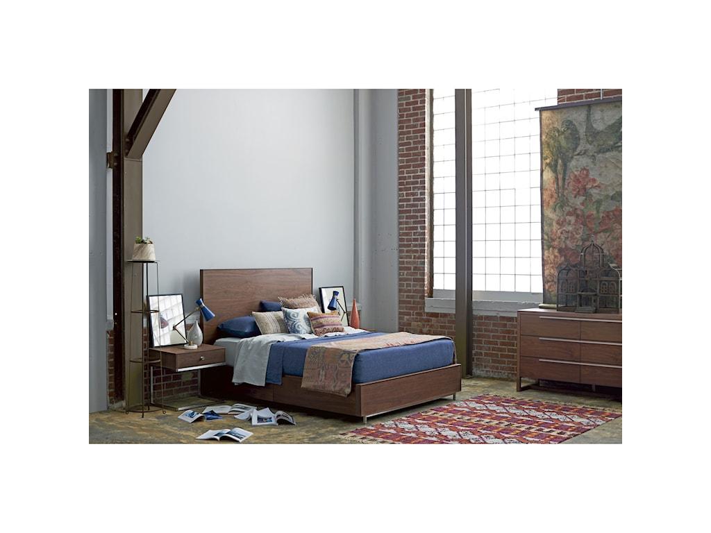 Universal Spaces WalnutTanner King Storage Bed