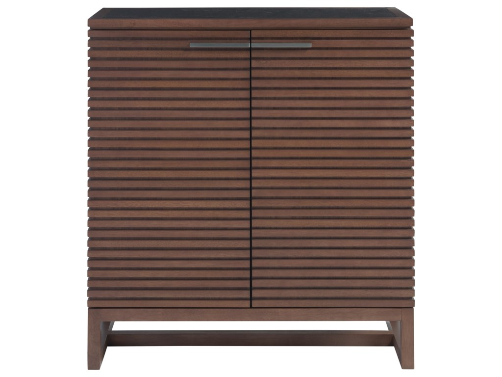 Universal Spaces WalnutHenley Bar Cabinet