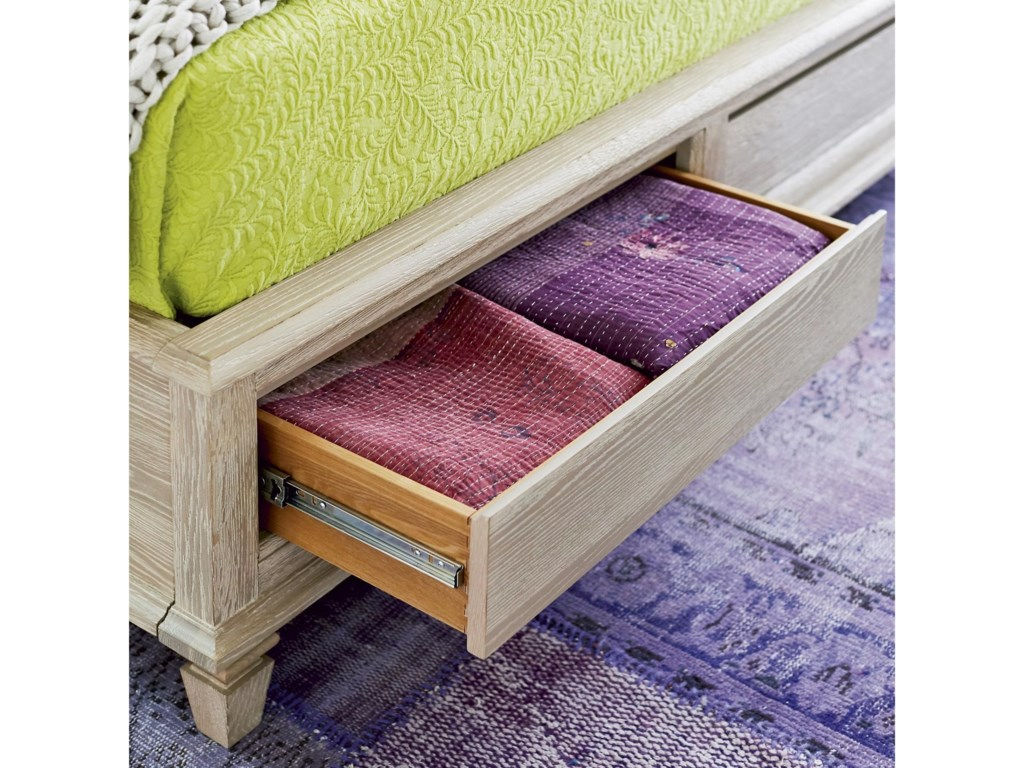 Universal Spaces OatmealAiden Queen Storage Bed