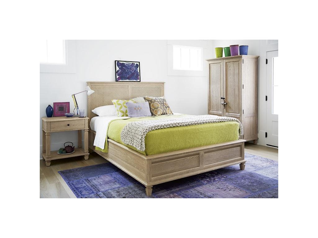 Wittman & Co. Spaces OatmealAiden King Storage Bed