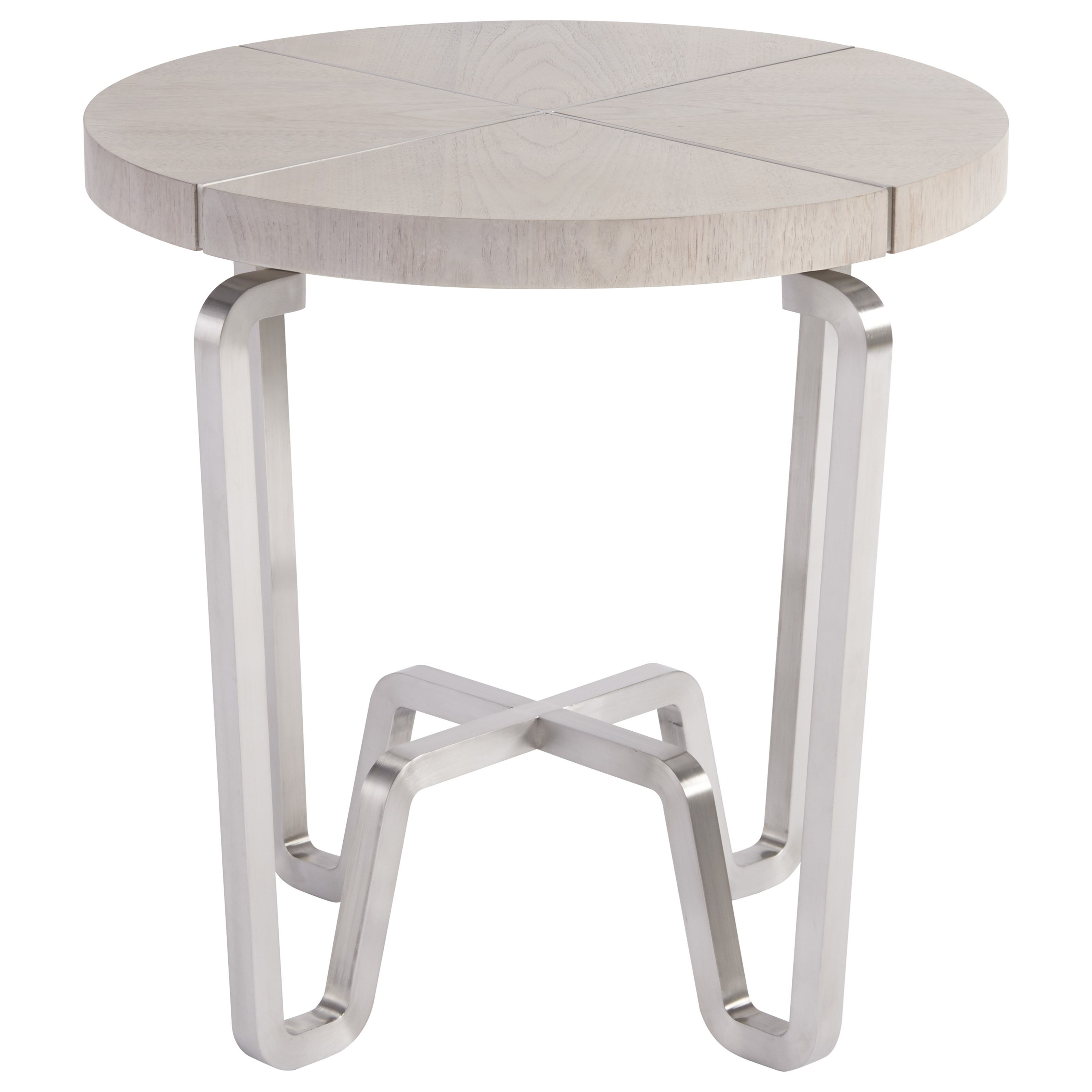 Spaces Mist Chatham End Table With Silver Base By Wittman U0026 Co.