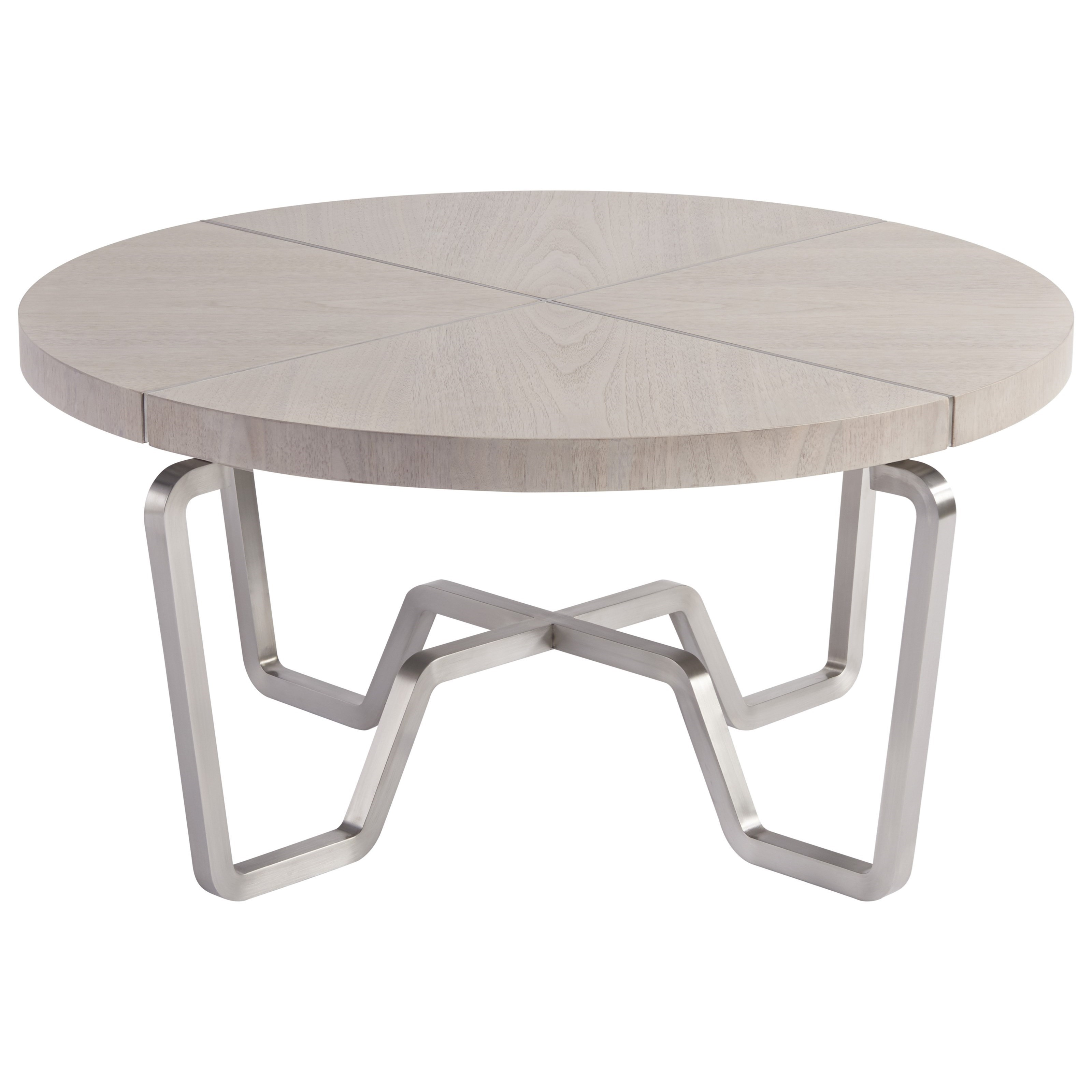 Spaces Mist Chatham Cocktail Table With Silver Base By Wittman U0026 Co.