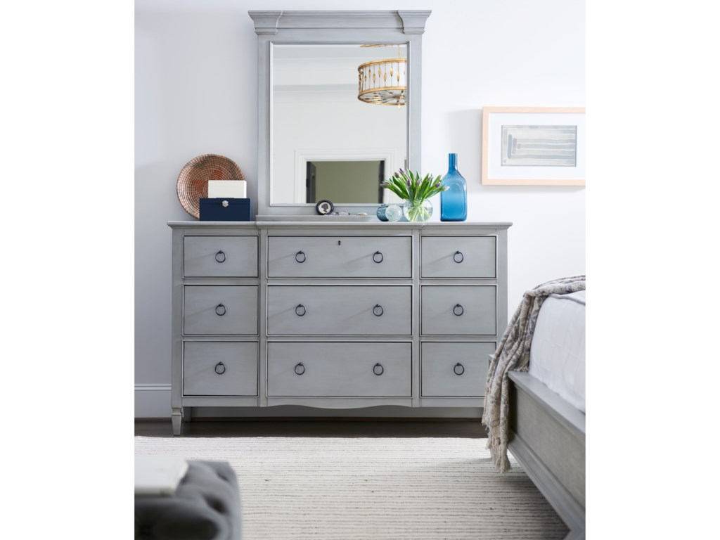 Universal Summer Hill9 Drawer Dresser with Mirror