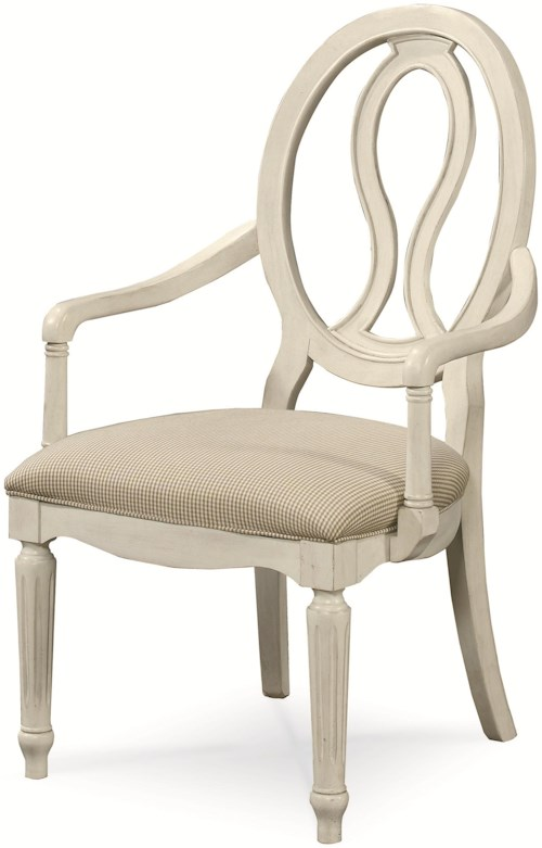 Universal Summer Hill Upholstered Seat, Pierced Back Arm Chair