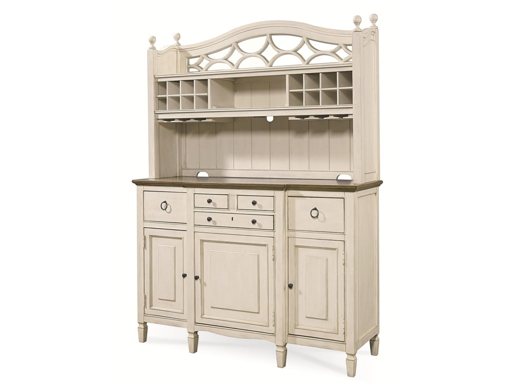 Universal Summer Hill2 Pc. Serving Buffet and Bar Hutch