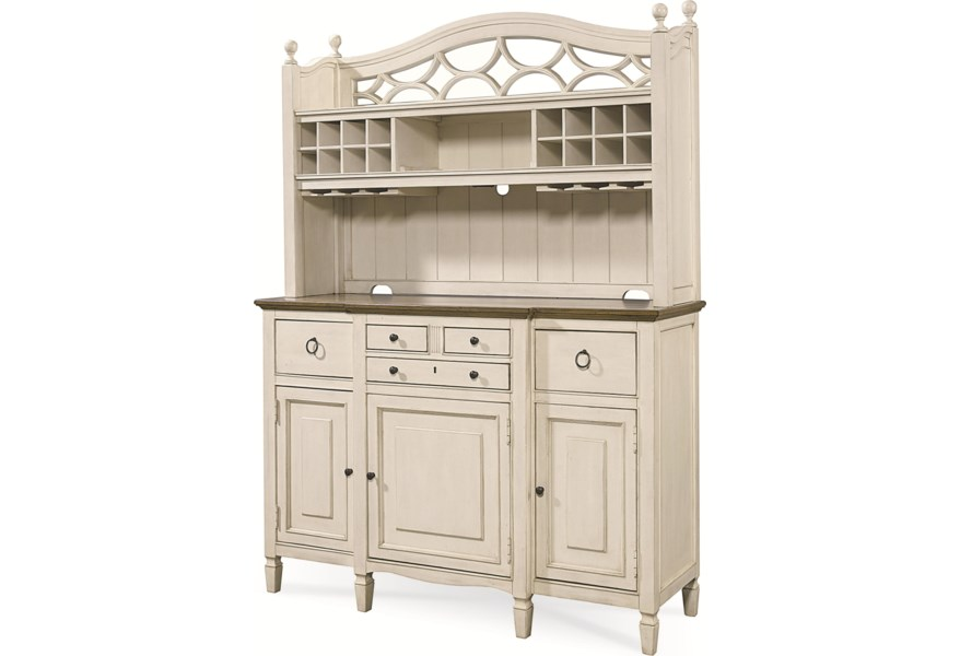 Summer Hill 2 Pc Serving Buffet And Bar Hutch With Wine Storage By Universal At Hudson S Furniture
