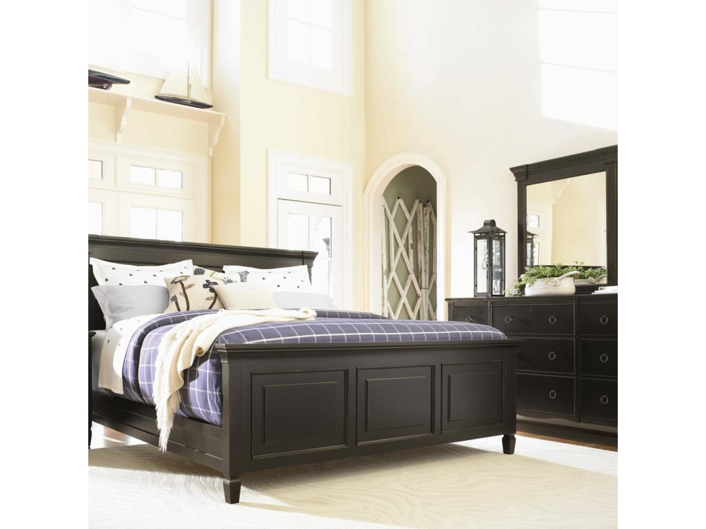 Dresser and Mirror Shown with Matching Panel Bed