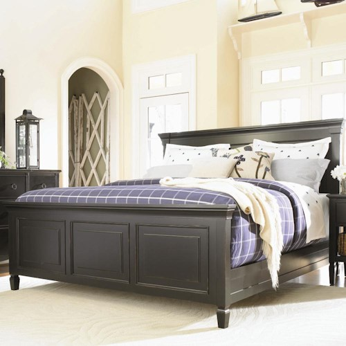 Universal Summer Hill Complete King Panel Bed