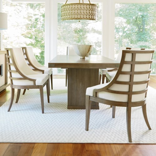 Universal synchronicity 7 piece rectangular table and - Dining room furniture atlanta theme ...