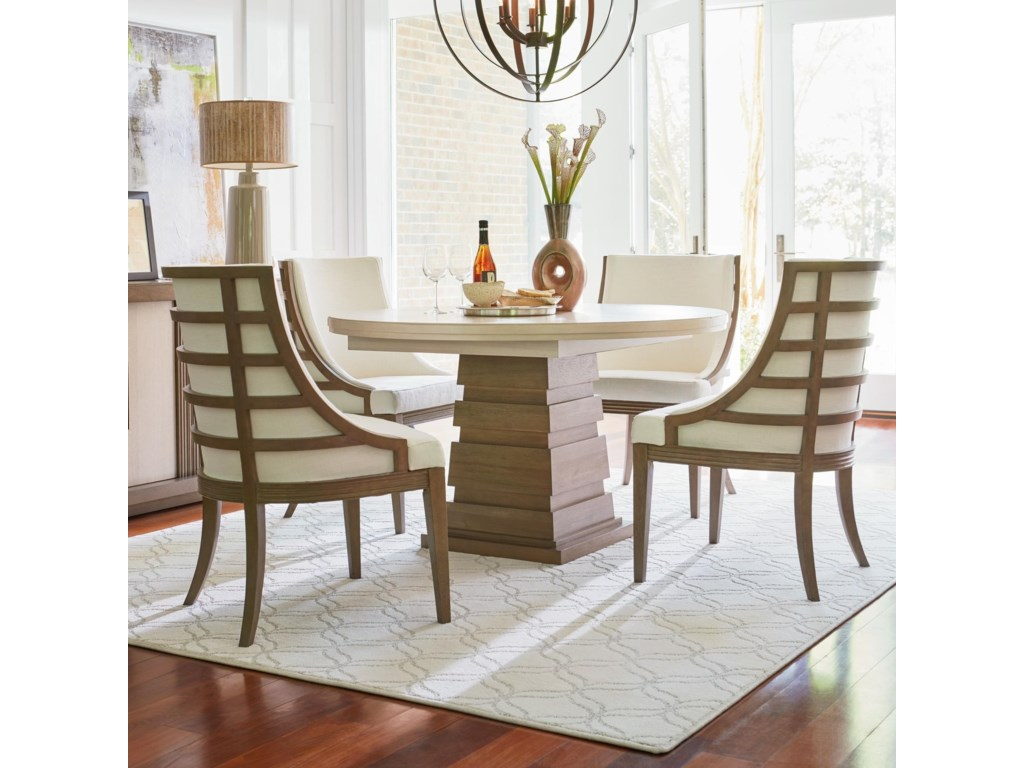 Universal Synchronicity5 Piece Round Table and Chair Set