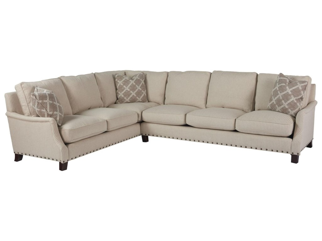 OCONNOR DESIGNS Tucker2 Pc Sectional w/ Left Arm Corner