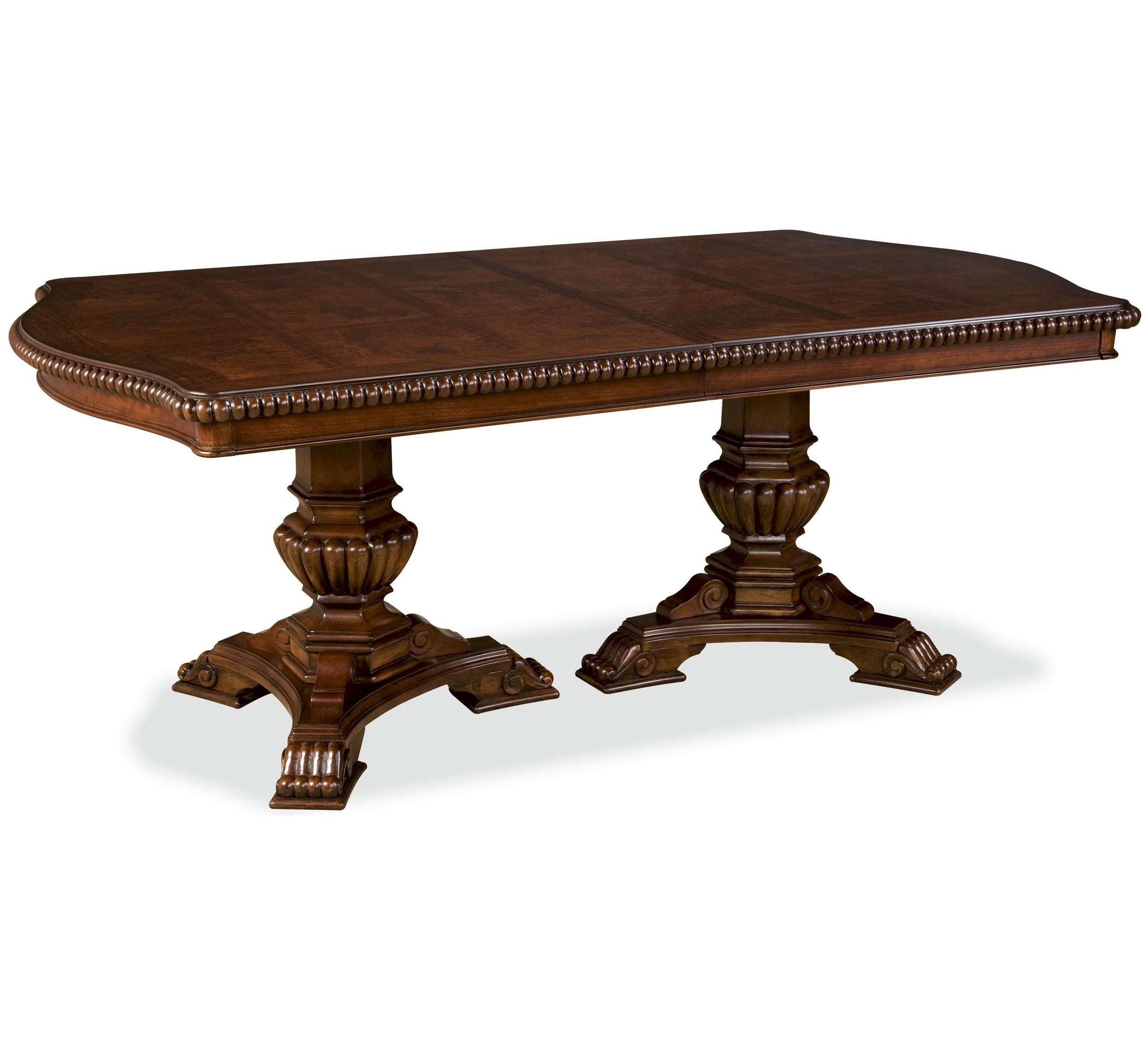 pedestal dining room table. Universal Villa CortinaDouble Pedestal Dining Room Table U