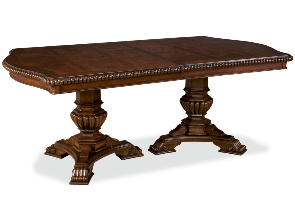 Universal Villa Cortina 409658-C Double Pedestal Dining Room Table ...