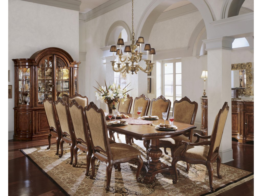 Universal Villa CortinaDouble Pedestal Dining Room Table