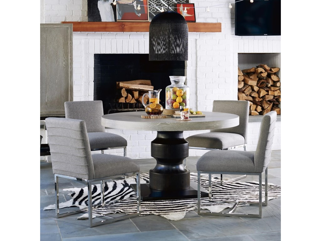 Universal Zephyr5 Piece Table and Chair Set