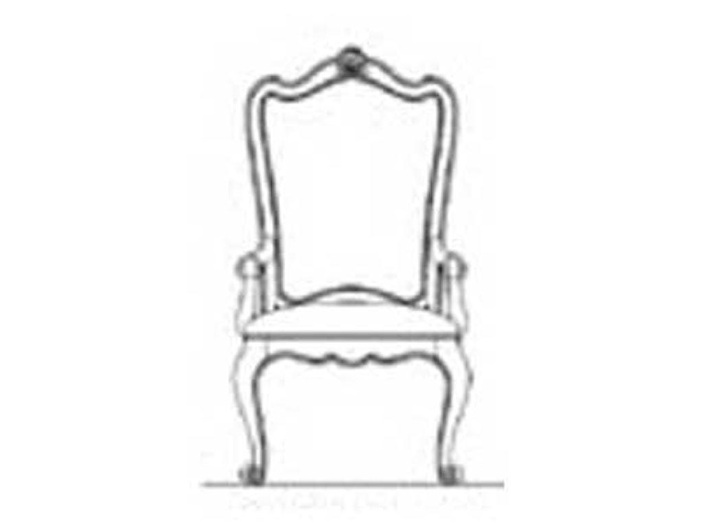 Universal CamdenLeather Dining Arm Chair