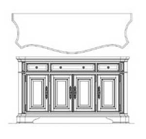 Wittman & Co. CamdenStorage Credenza with Marble Top