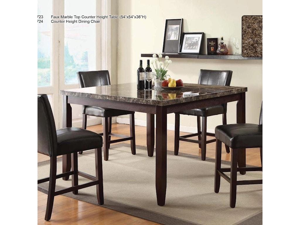 U.S. Furniture Inc 2720 Dinette5 Piece Pub Dining Set