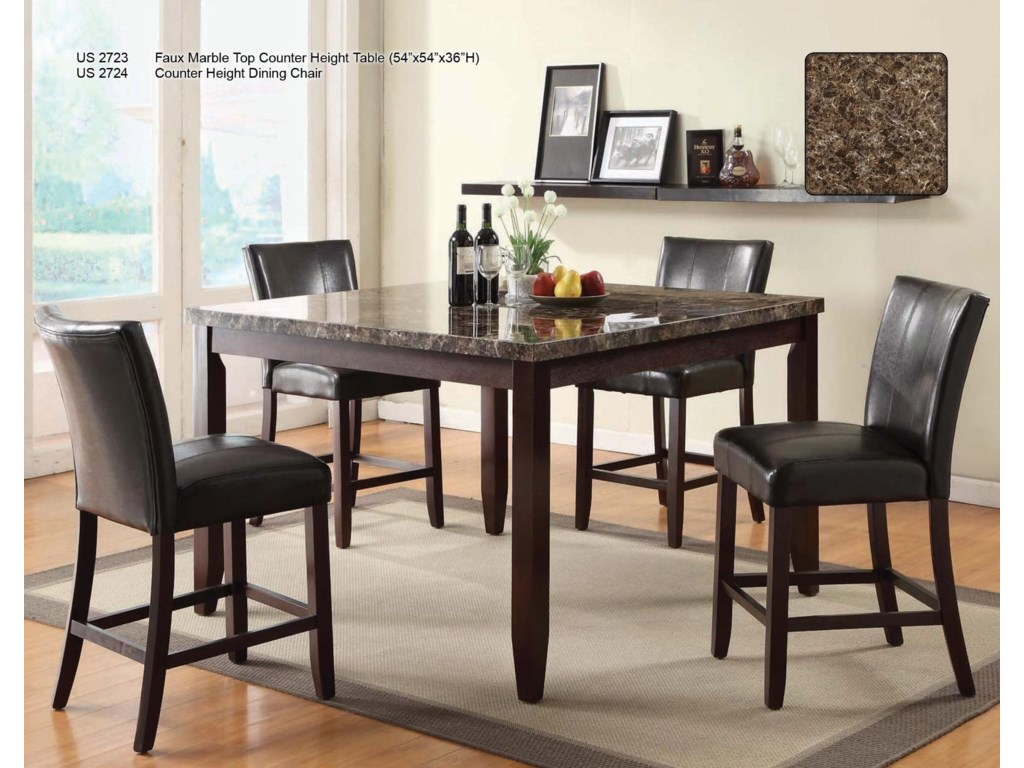 Shown with Counter Height Chairs