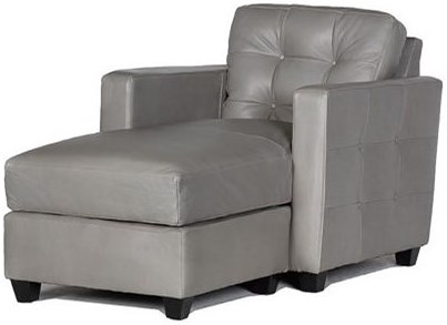 USA Premium Leather 1160 100% Leather Chaise