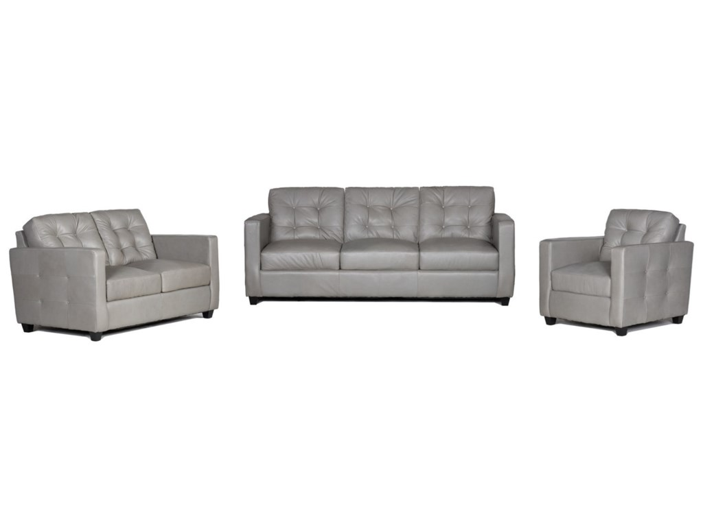 USA Premium Leather 1160100% Leather Sofa