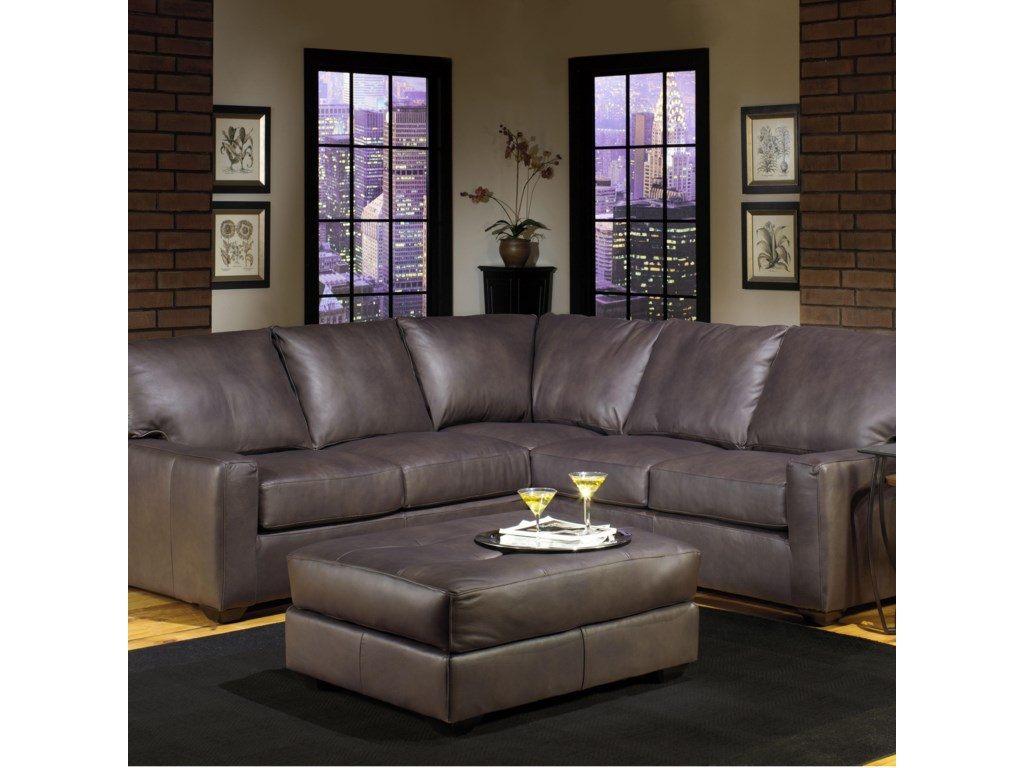 USA Premium Leather 2655Sectional Sofa