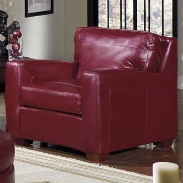 USA Premium Leather 2950 Upholstered Leather Armchair