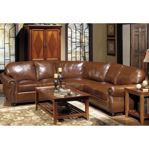 Usa Premium Leather 4025 Leather Sectional Sofa With