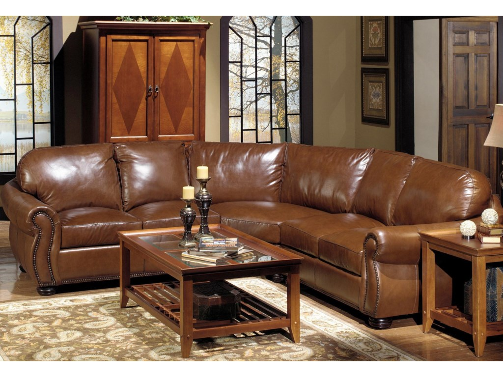 USA Premium Leather 4025Sectional