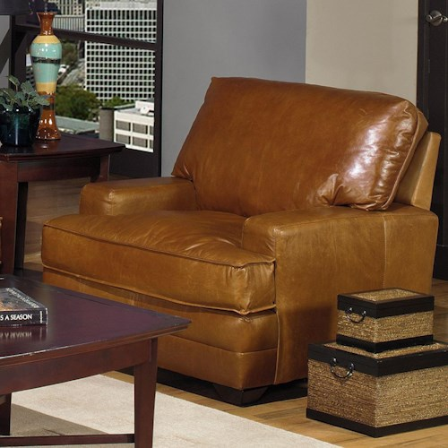 USA Premium Leather 4455 Leather Upholstered Chair