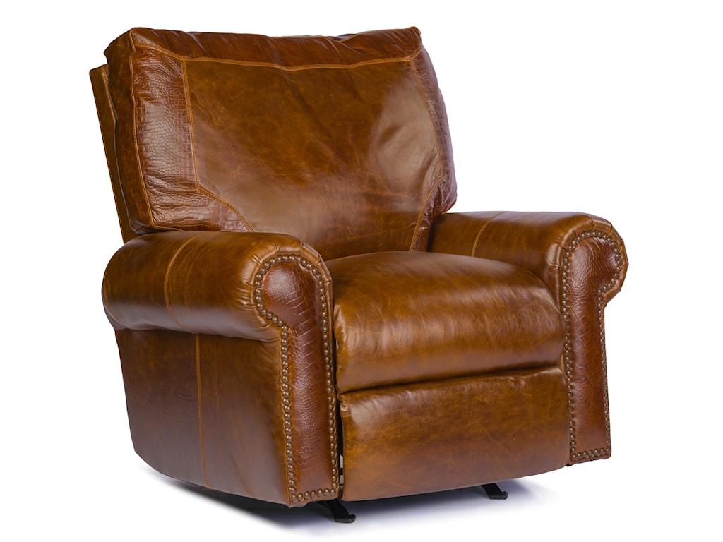 USA Premium Leather 4955Rocker Recliner
