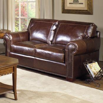 USA Premium Leather 4955 Leather Loveseat