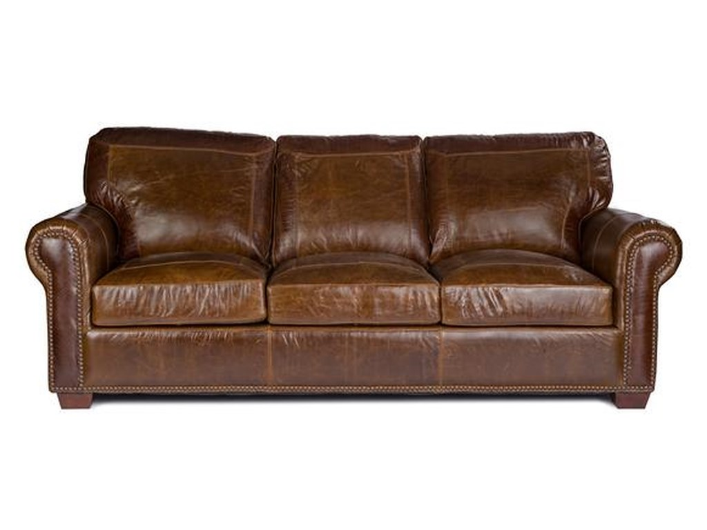 Usa Premium Leather 4955stationary Sofa
