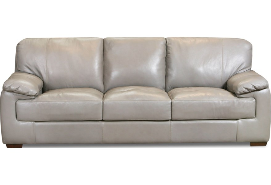 5450 Contemporary Leather Sofa